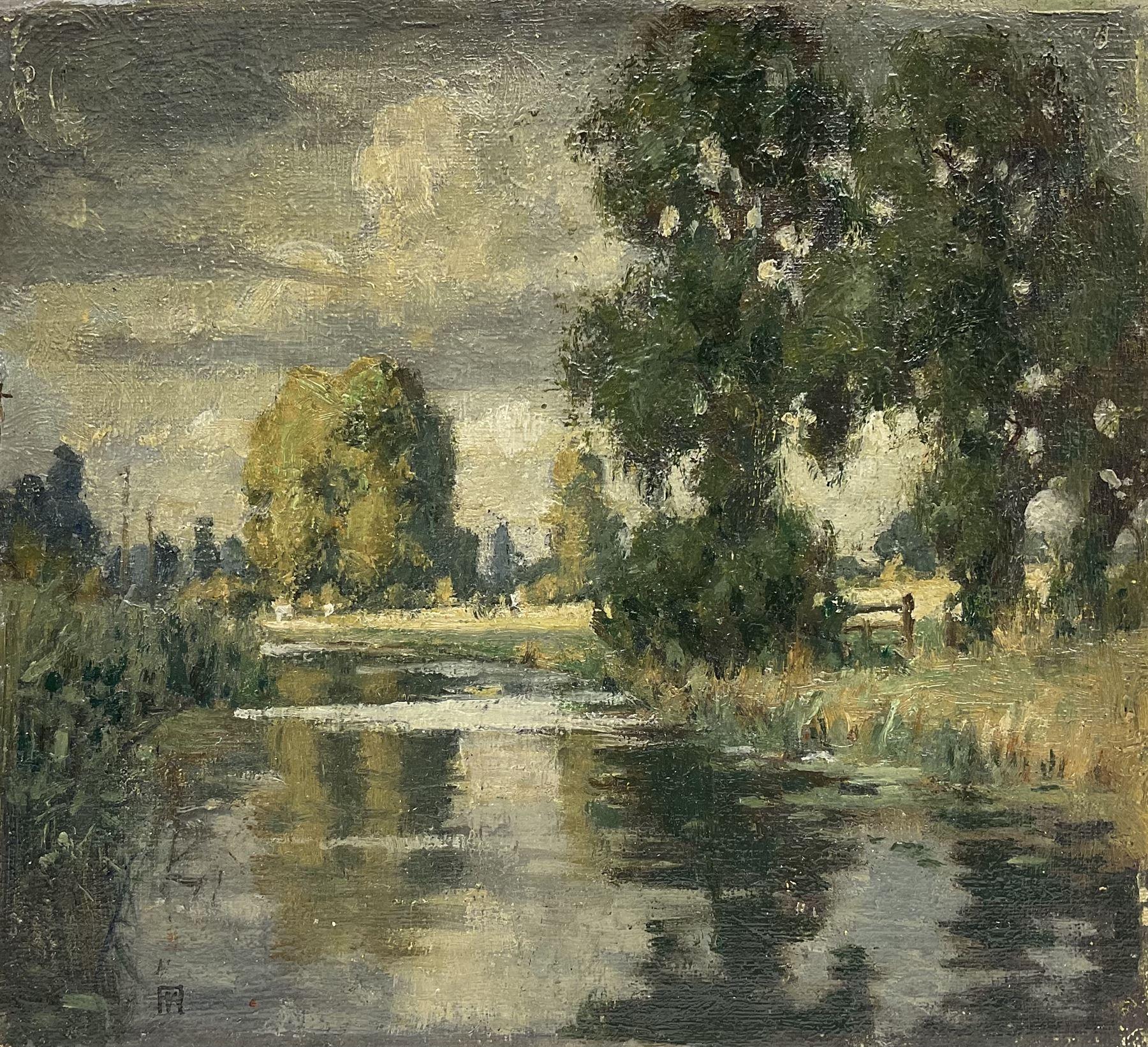 Francis G Wood (British exh.1906-1907): River Cherwell