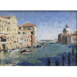 Lotta Camilla Teale (Contemporary): 'September Day on the Grand Canal Venice'