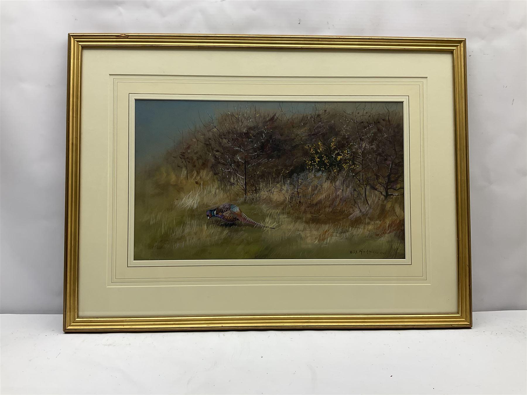 Philip Rickman (British 1891-1982): Pheasant emerging from the Undergrowth - Image 3 of 4