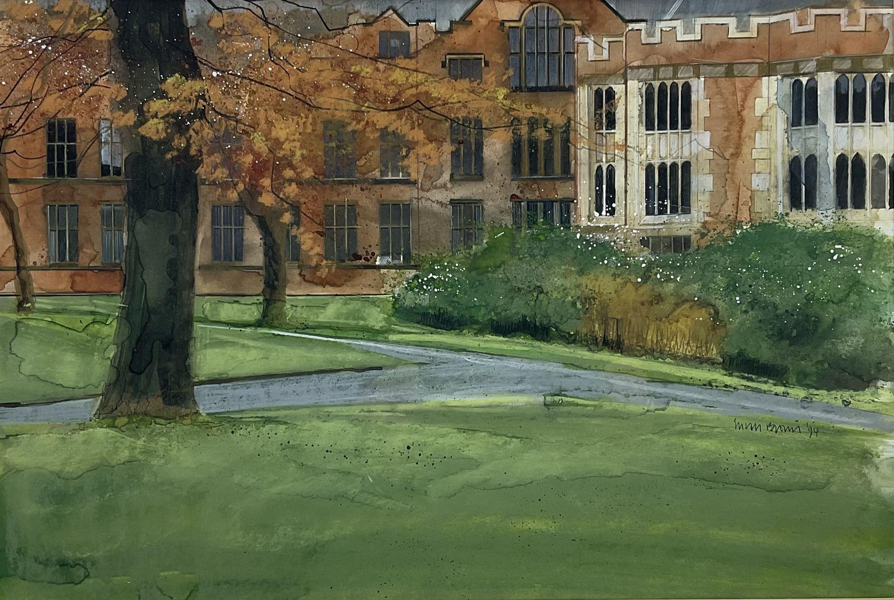 Susan Brown (Northern British 1956-): 'View from Weston Park Sheffield'