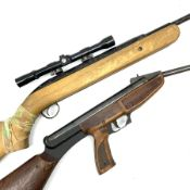 Two air rifles for restoration: BSA Airsport .22 cal. underlever air rifle with Bentley 4x20 scope