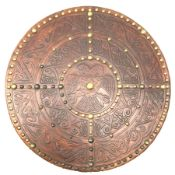 Replica Scottish Highlander's Targe by Joe Lindsay based on a 17th century original which came from