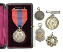 George V Imperial Service Medal awarded to Arthur Poulter