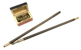 19th century two-piece hardwood gun cleaning rod with quality brass coupling