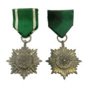 WW2 German Eastern Peoples Bravery and Merit Star 2nd Class 'silver' with swords; and another 2nd Cl