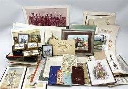 Large quantity of framed and unframed prints and various books