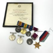 WW1 pair of medals comprising British War Medal and Victory Medal awarded to 291064 A-CPL. H.S.