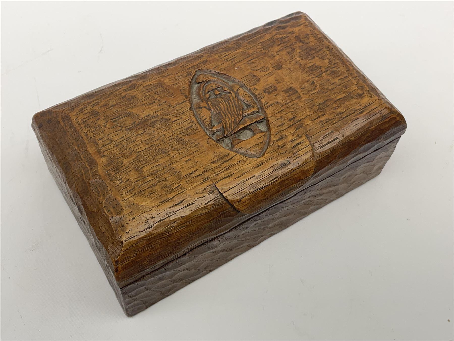 'Gnomeman' tooled oak trinket box - Image 2 of 6