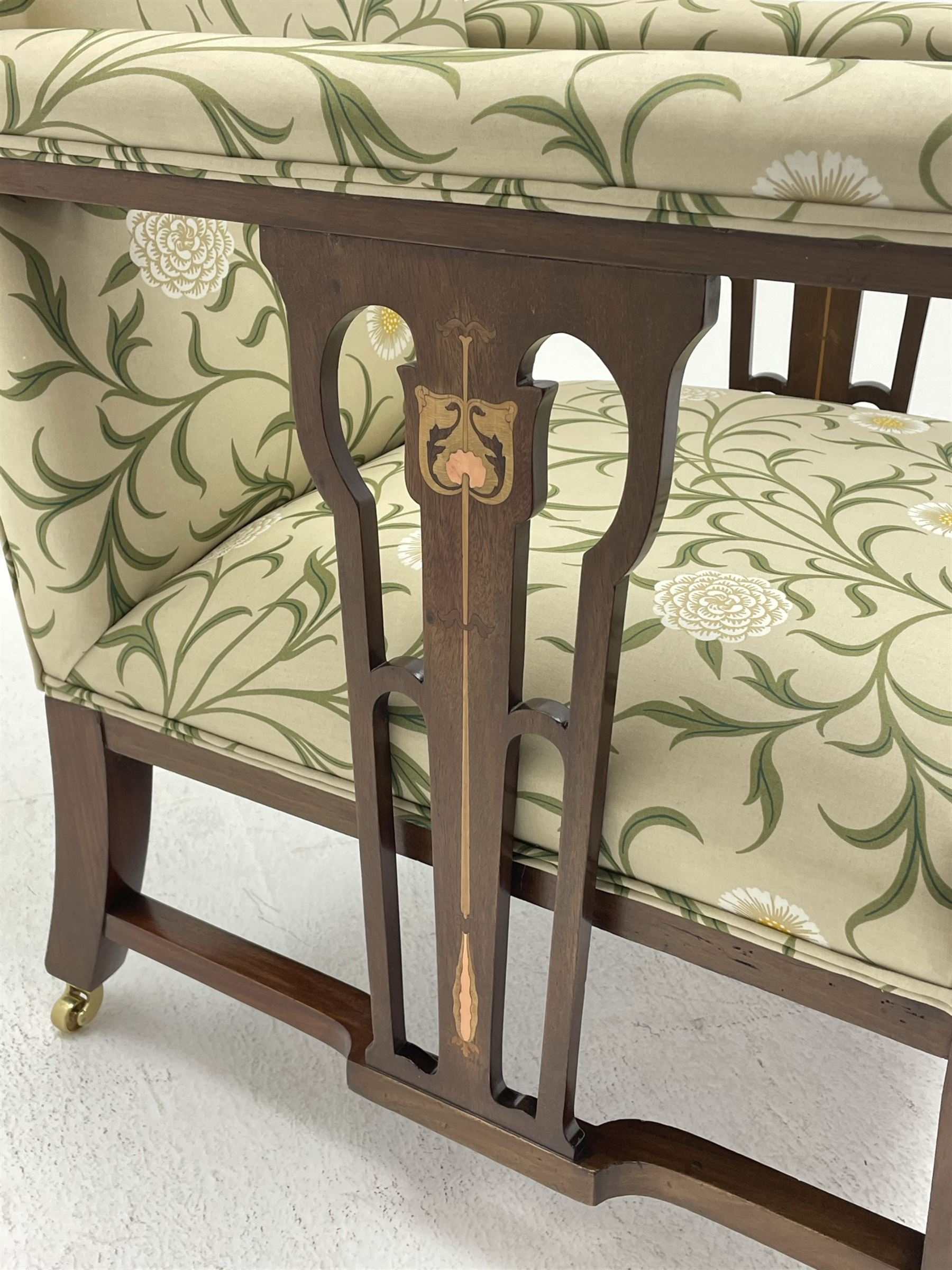 Late 19th century Arts and Crafts mahogany armchair - Image 5 of 7