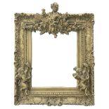 Victorian style gilt framed mirror
