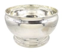 Large early 20th century silver bowl