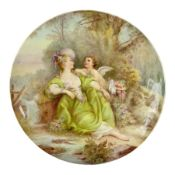 Late 19th century porcelain plate