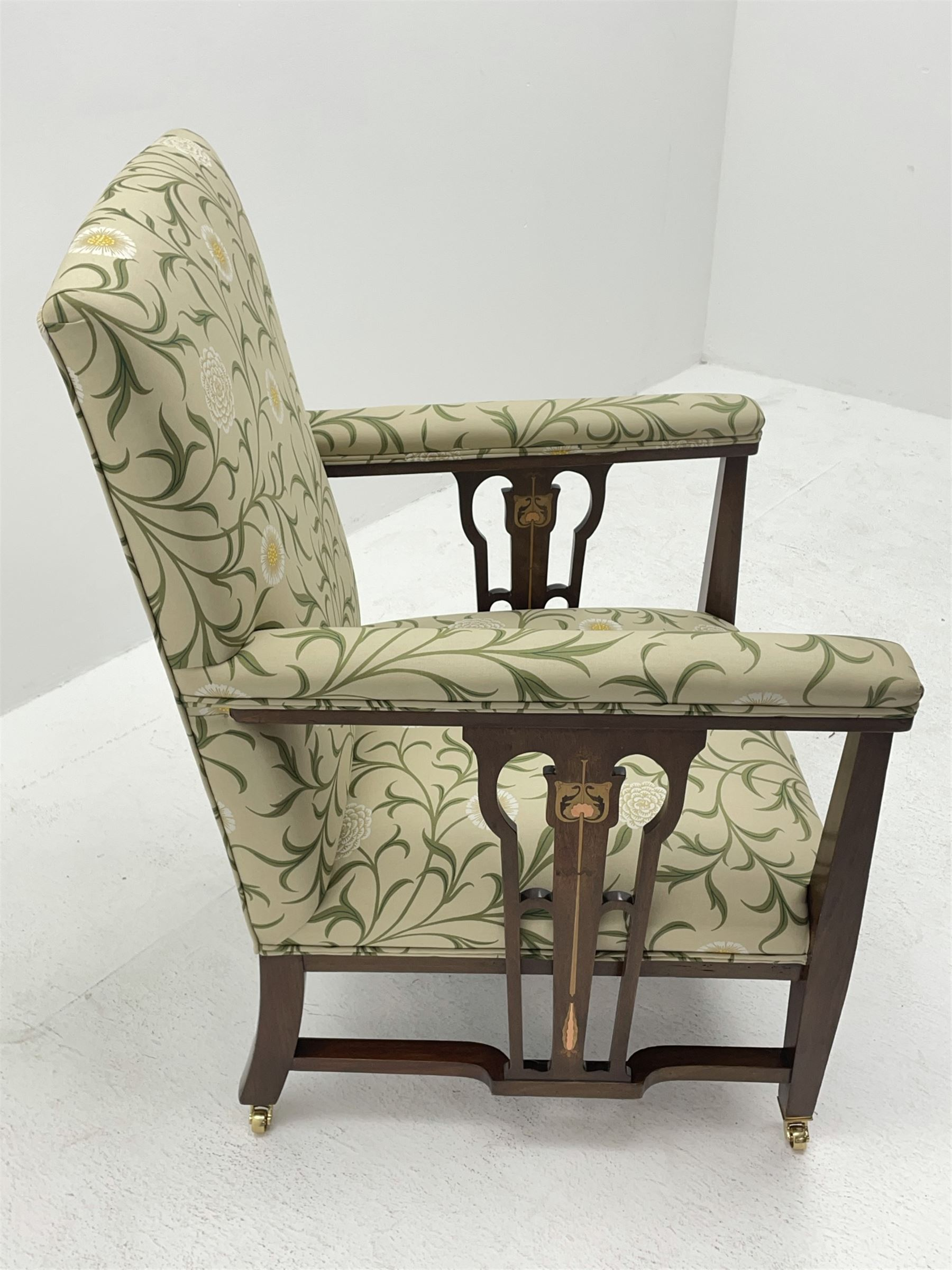 Late 19th century Arts and Crafts mahogany armchair - Image 7 of 7
