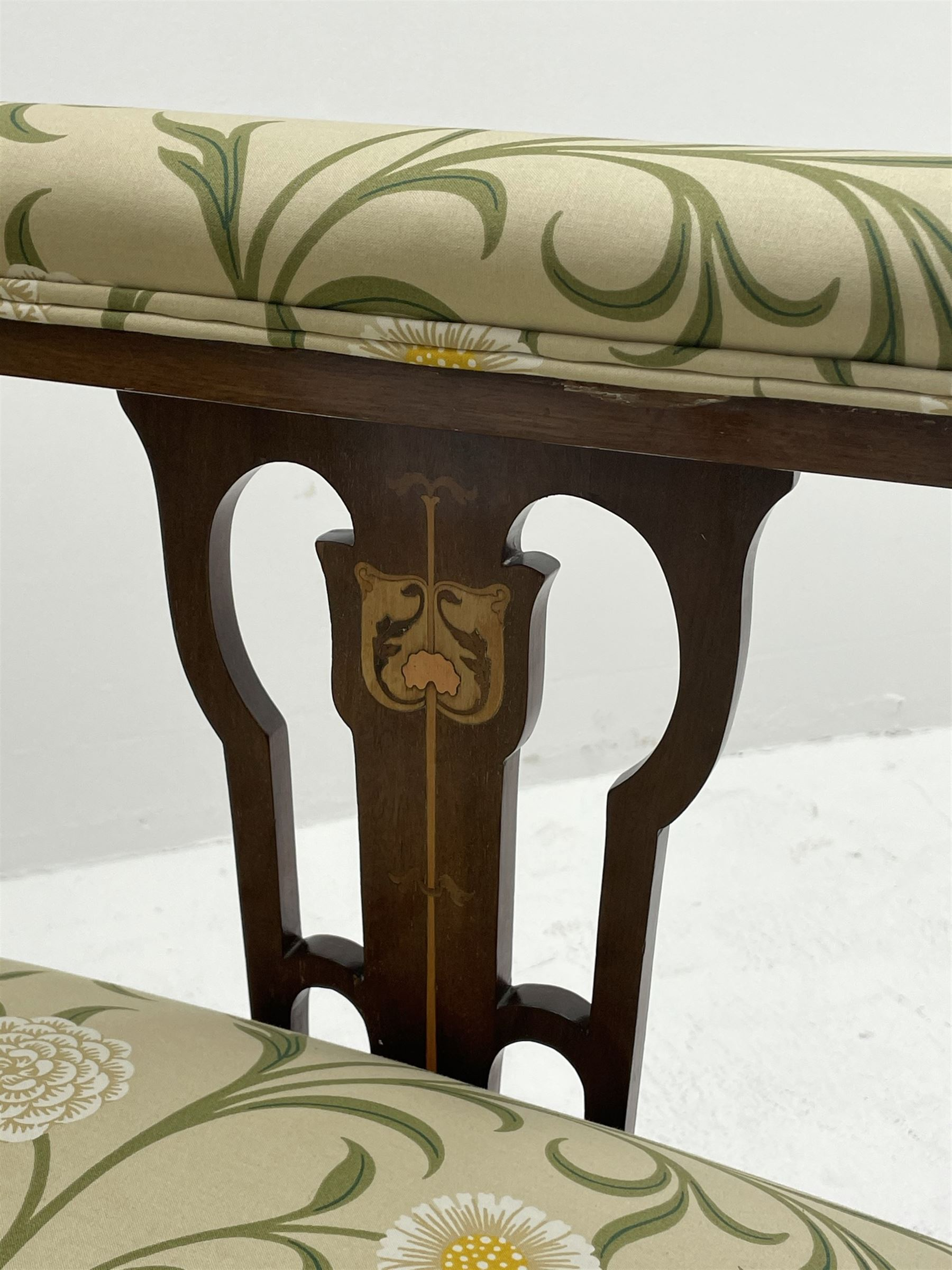 Late 19th century Arts and Crafts mahogany armchair - Image 6 of 7