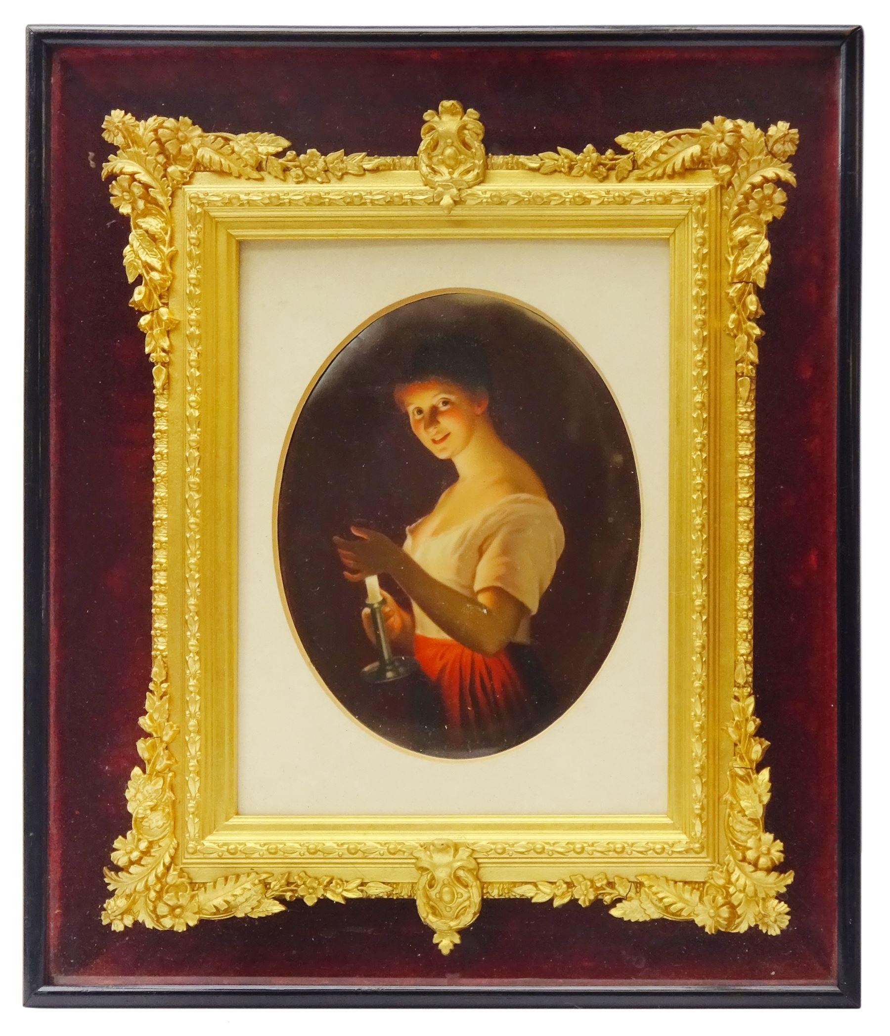 19th century Hutschenreuther porcelain plaque