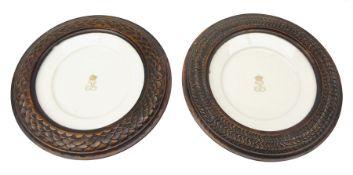 Pair mid 19th century Sevres porcelain plates