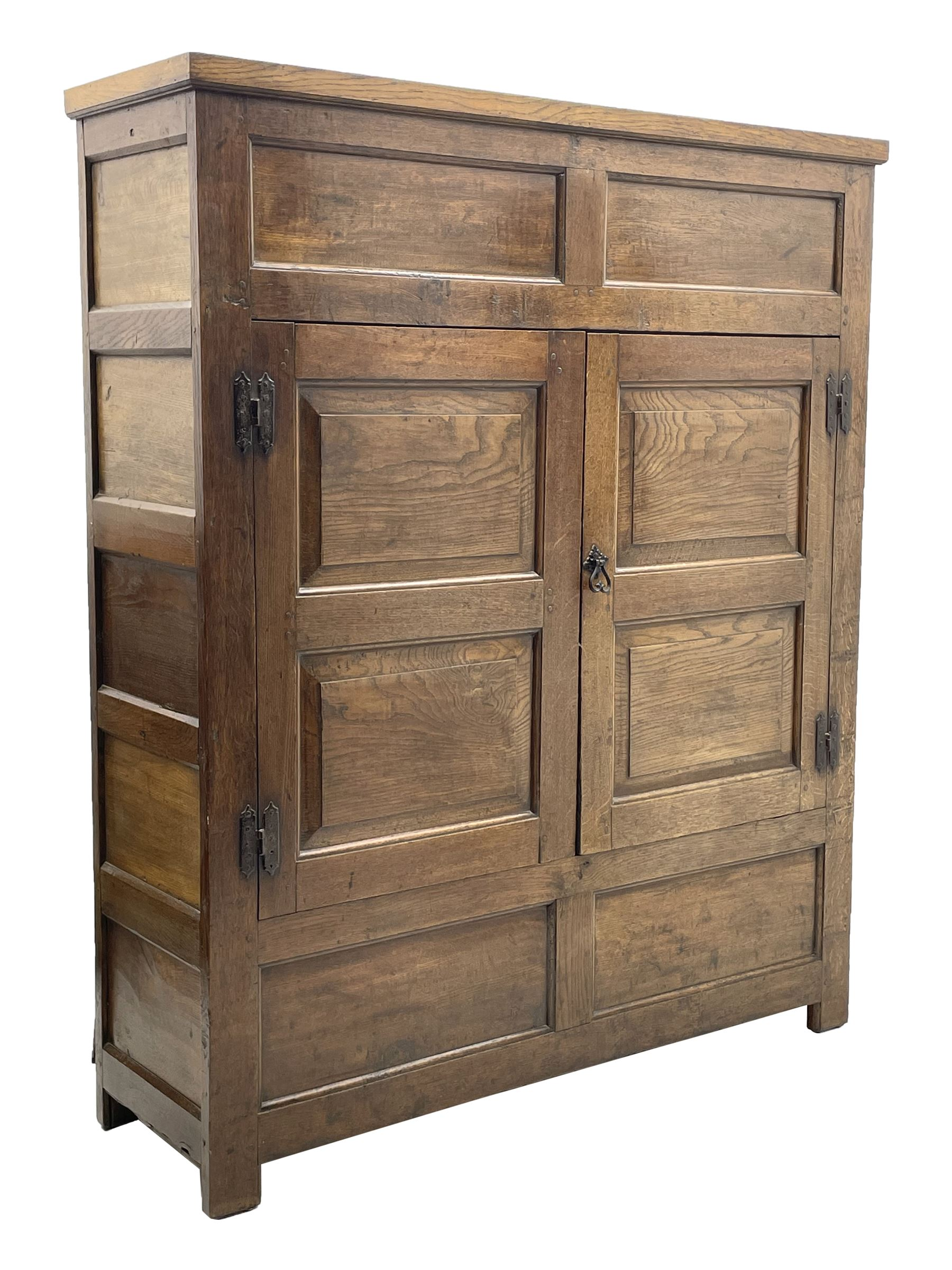 18th century and later oak livery cupboard