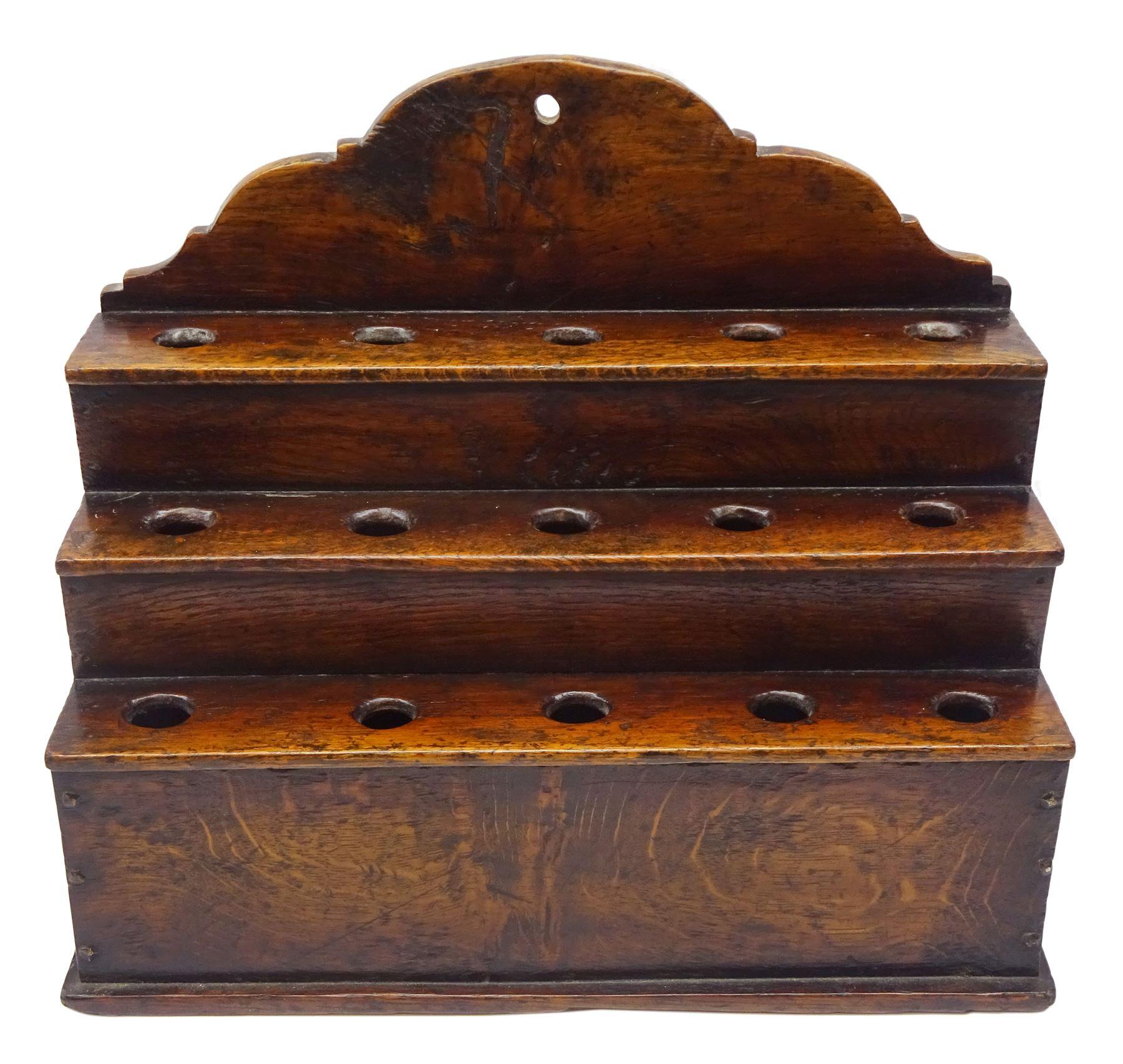 George III boarded oak spoon rack