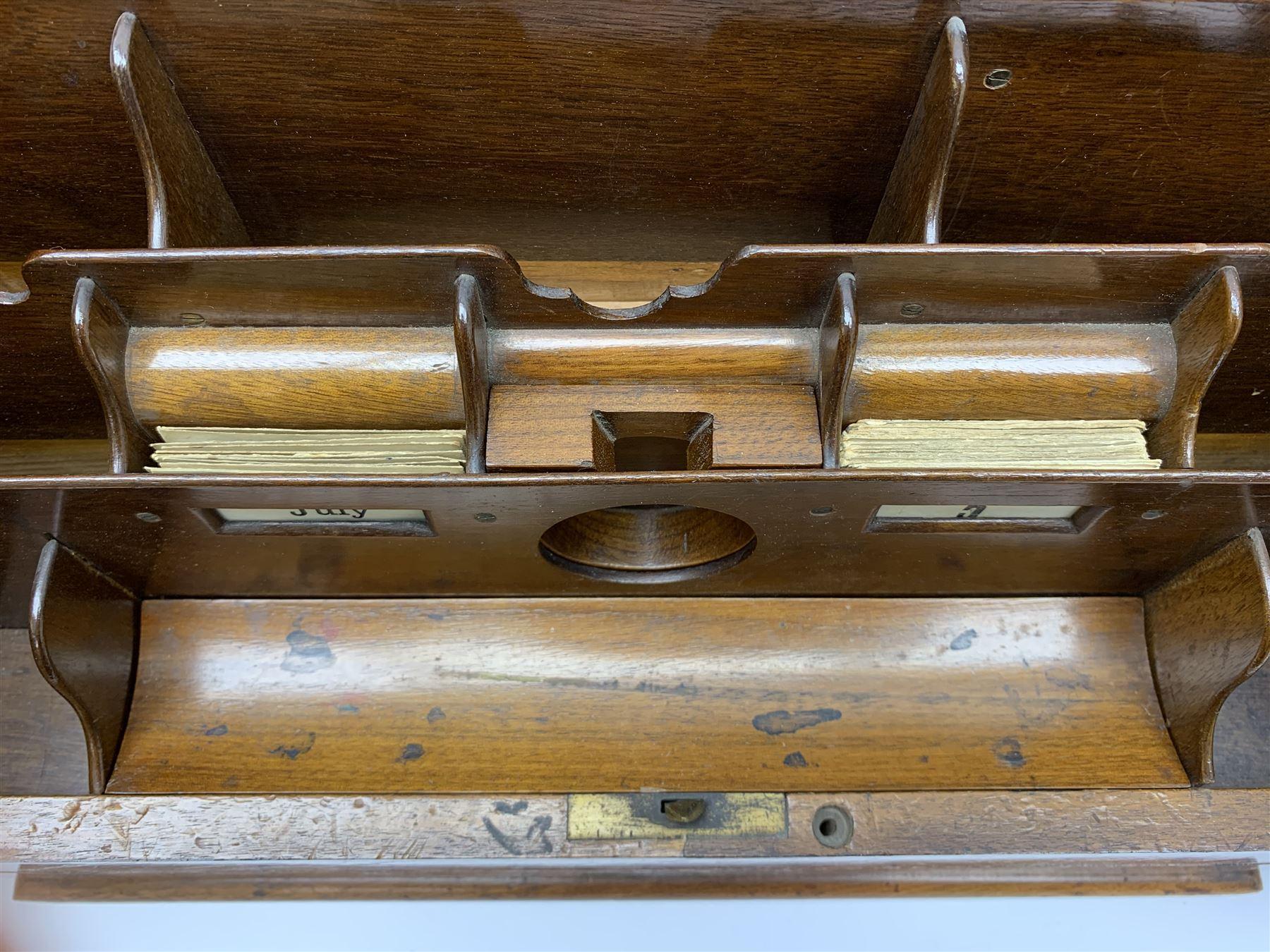 Late Victorian walnut correspondence box - Image 12 of 13