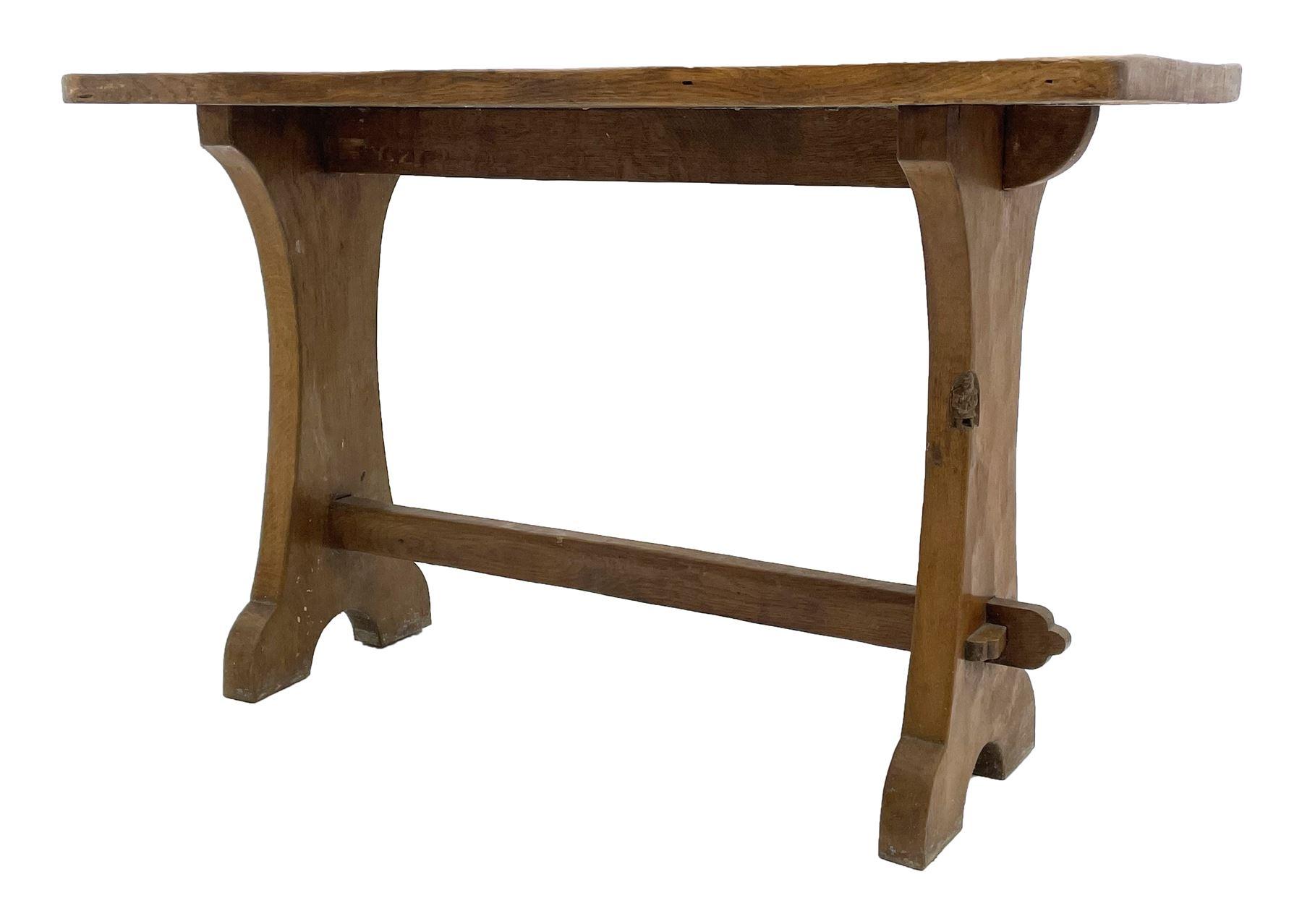 'Gnomeman' adzed oak side table