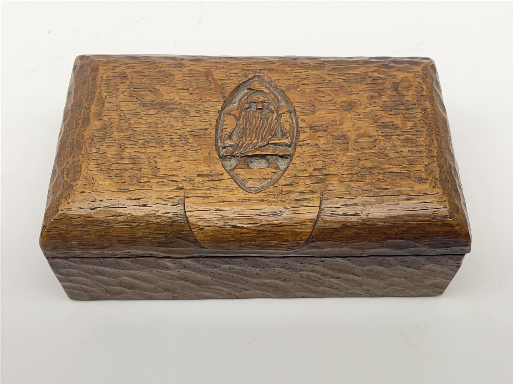 'Gnomeman' tooled oak trinket box - Image 5 of 6