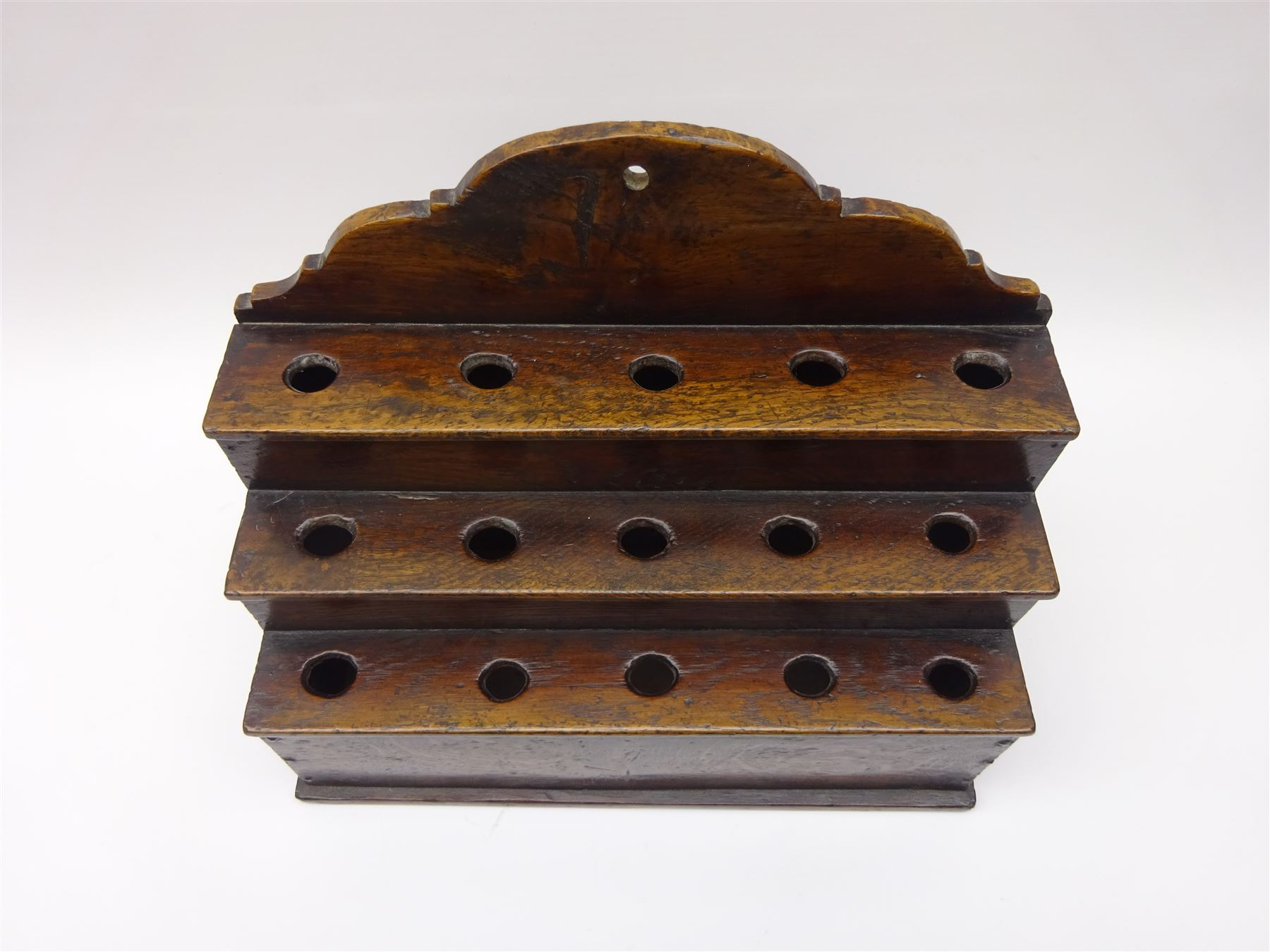 George III boarded oak spoon rack - Image 4 of 4