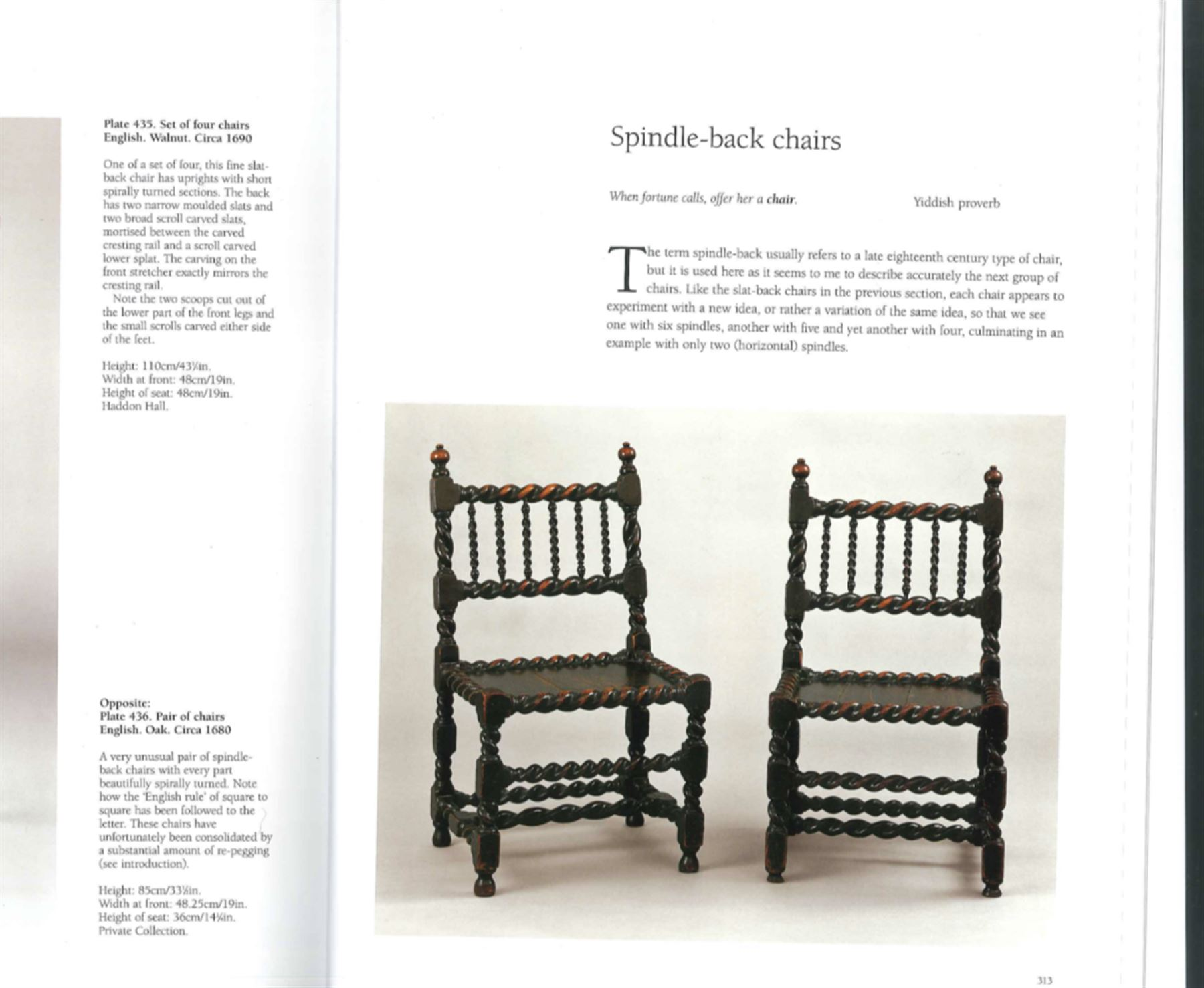 Unusual pair late 17th century oak spindle-back chairs - Image 20 of 20