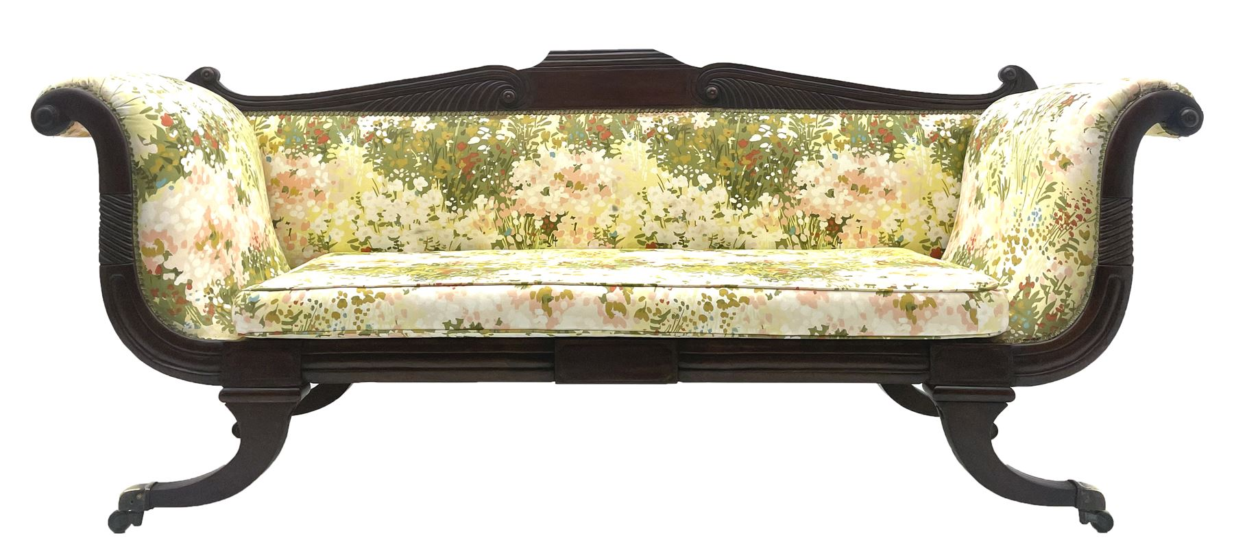 Regency period mahogany settee