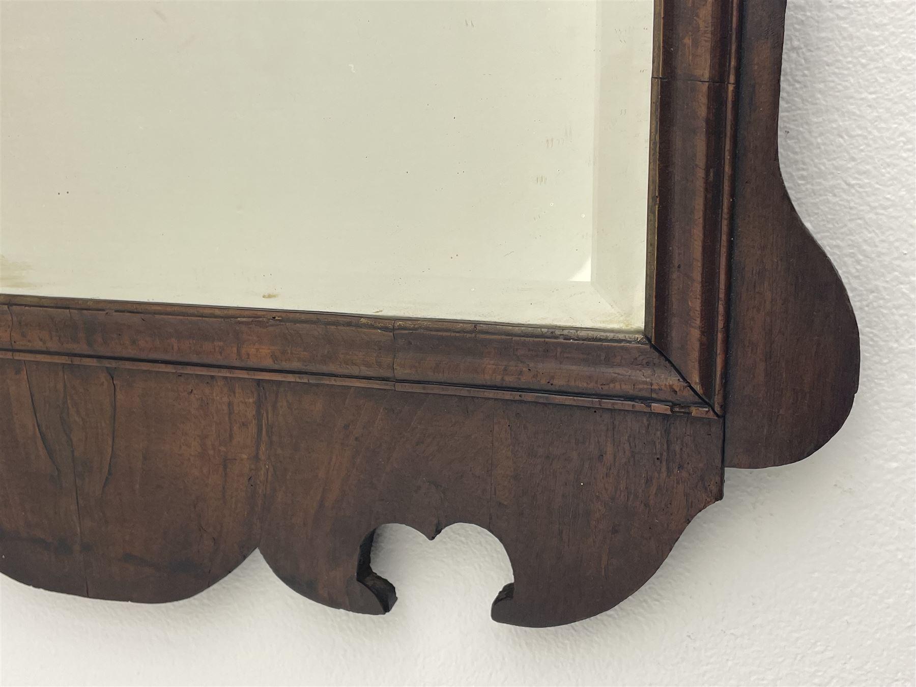 George II walnut mirror - Image 3 of 7