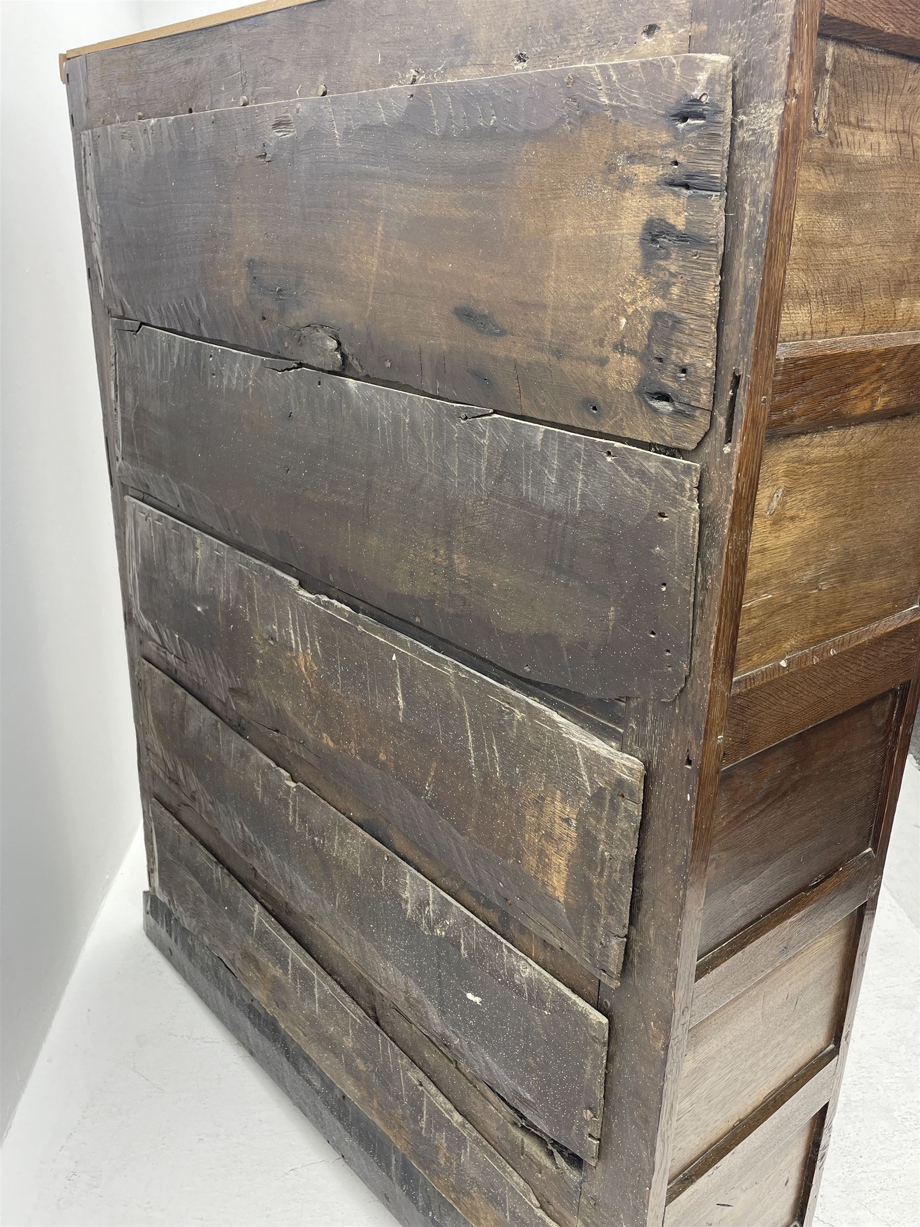 18th century and later oak livery cupboard - Image 8 of 8