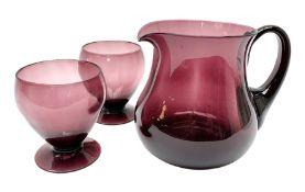 19th century amethyst glass jug