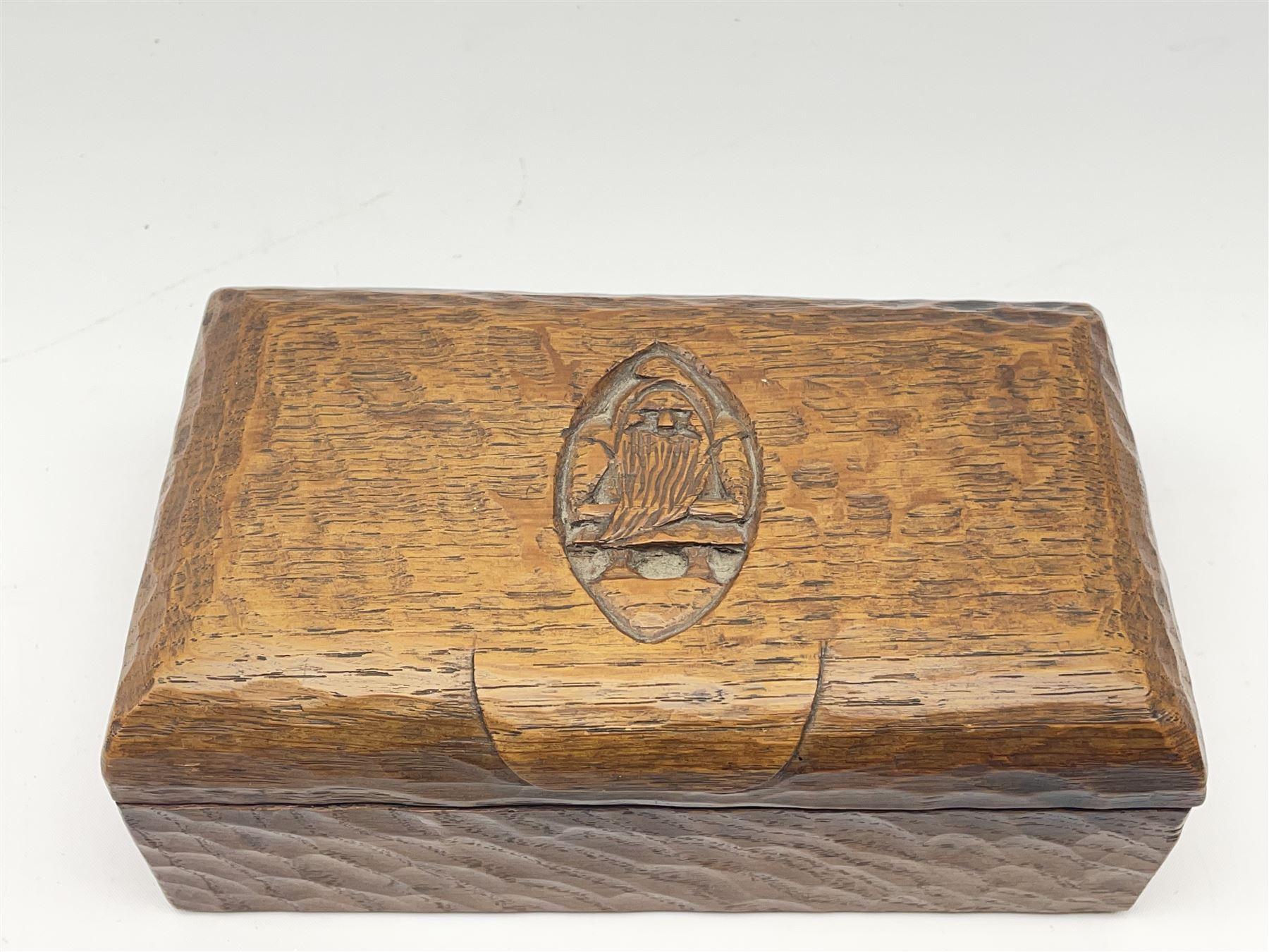 'Gnomeman' tooled oak trinket box - Image 4 of 6