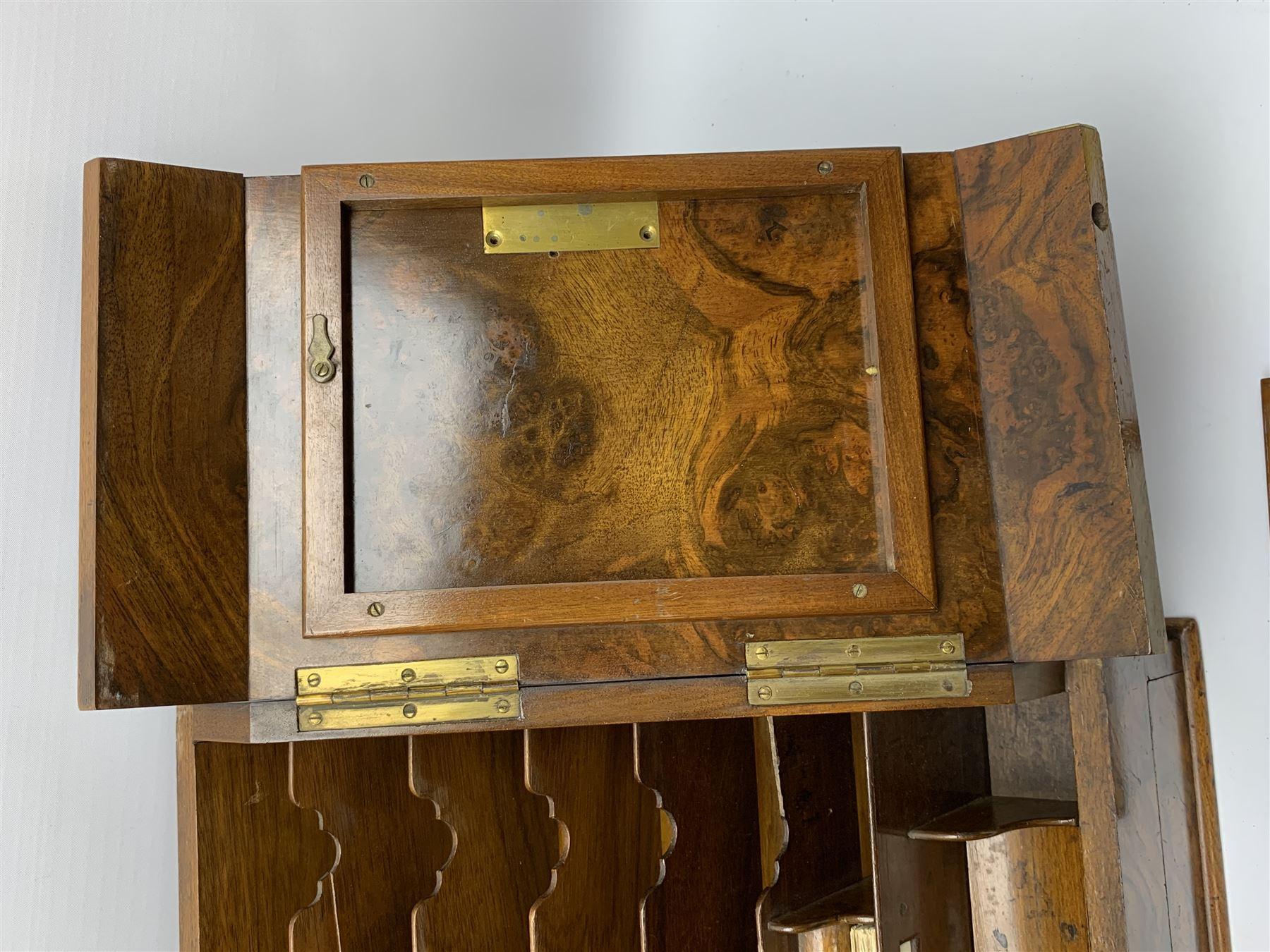 Late Victorian walnut correspondence box - Image 9 of 13
