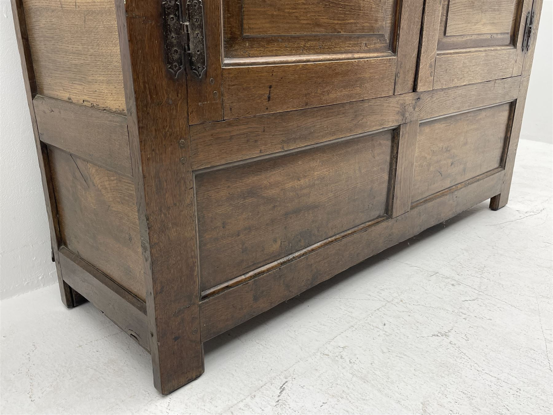 18th century and later oak livery cupboard - Image 6 of 8