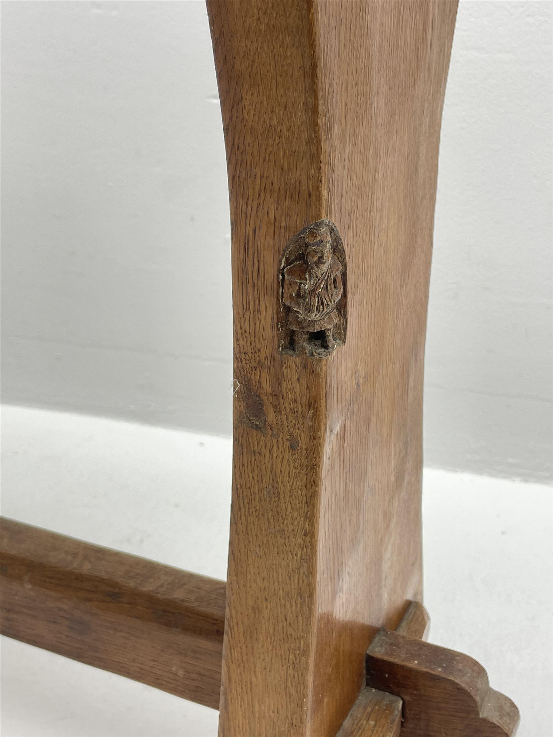 'Gnomeman' adzed oak side table - Image 2 of 4