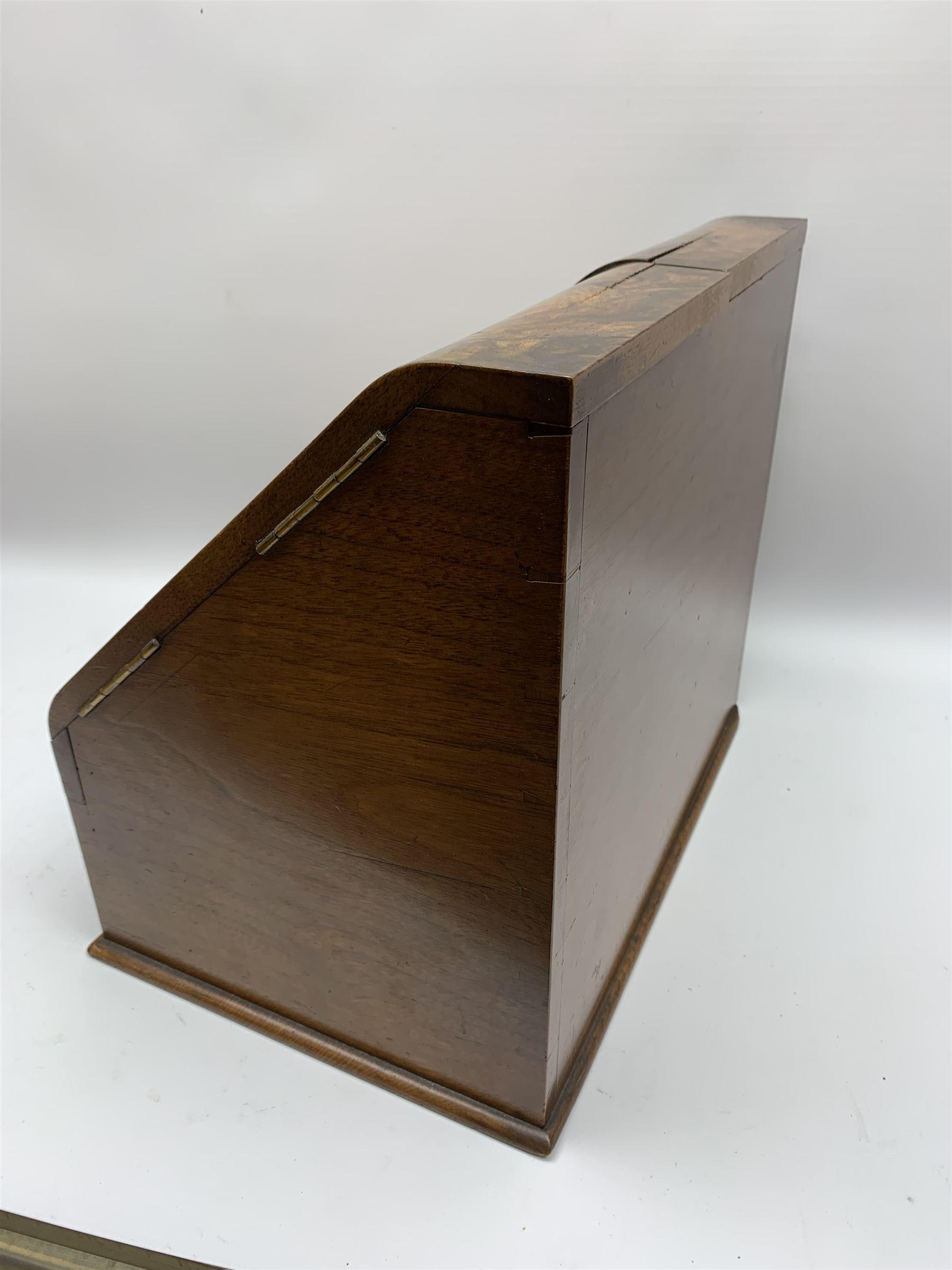 Late Victorian walnut correspondence box - Image 3 of 13