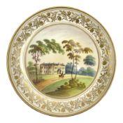 19th century English porcelain plate