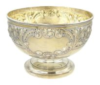 Edwardian silver footed bowl