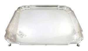 Early 20th century silver salver