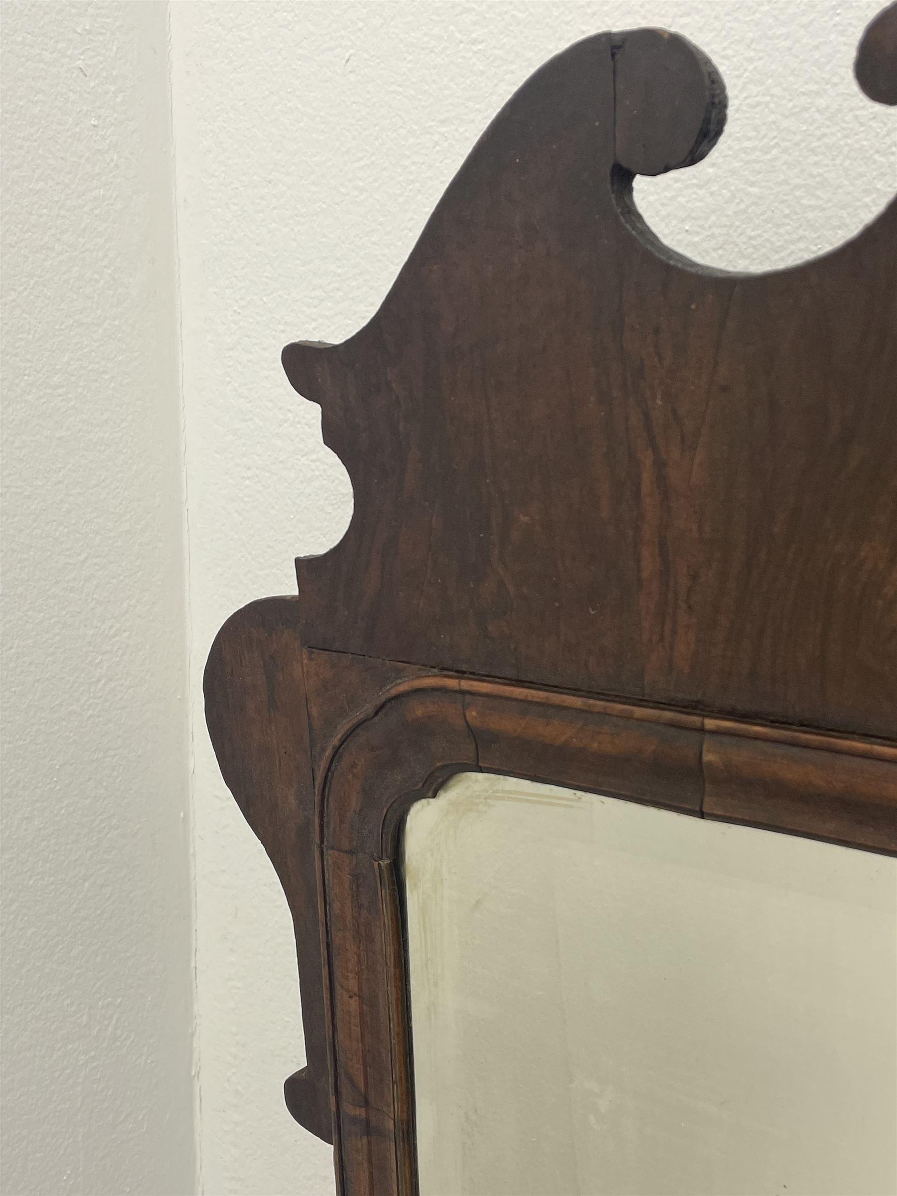 George II walnut mirror - Image 5 of 7