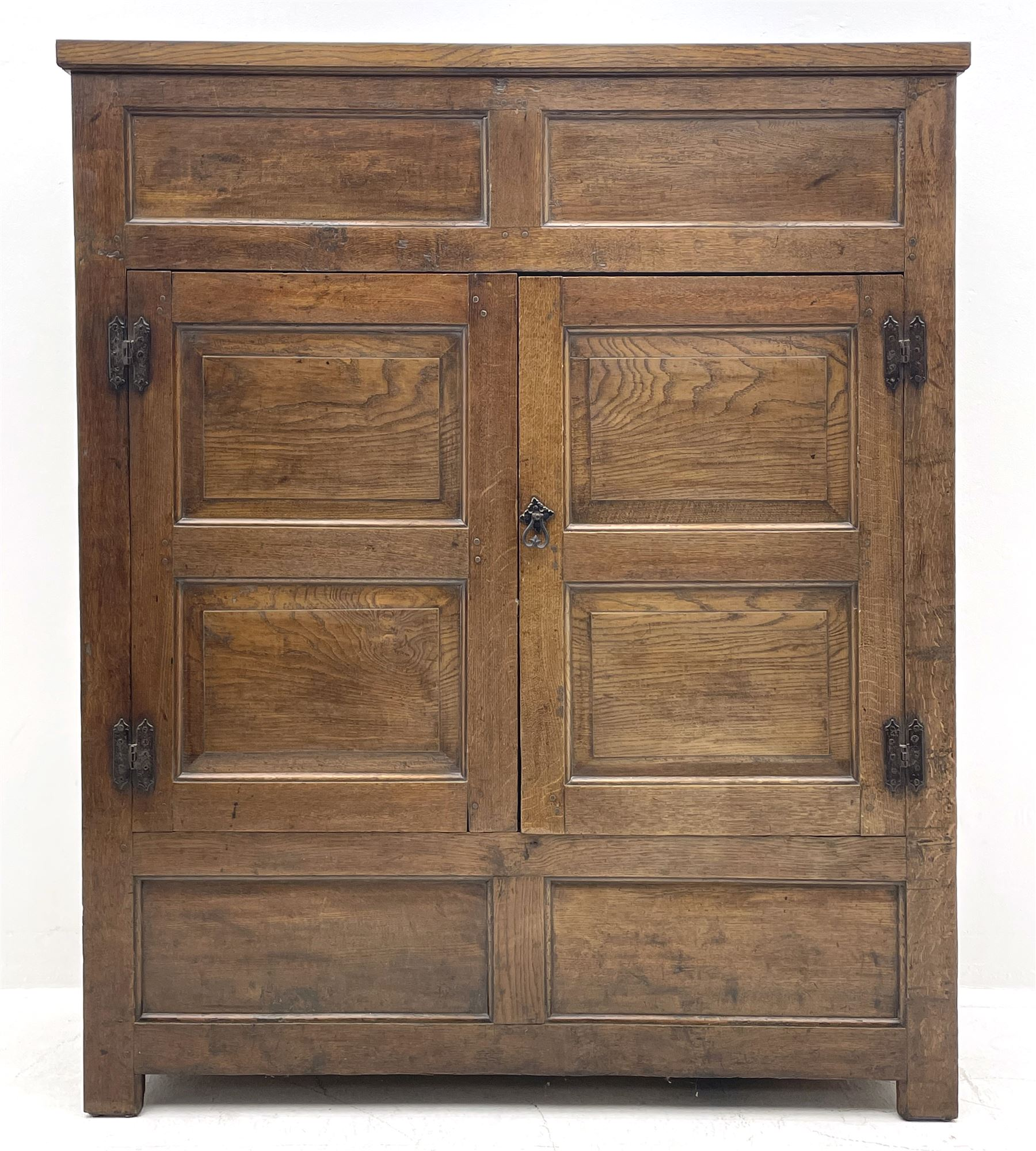 18th century and later oak livery cupboard - Image 2 of 8