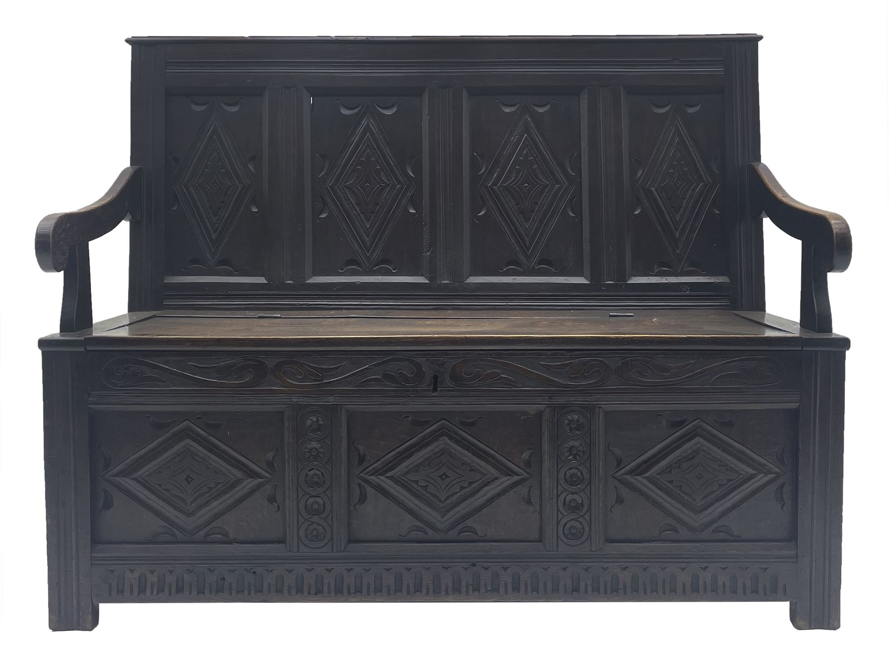 17th century and later box settle