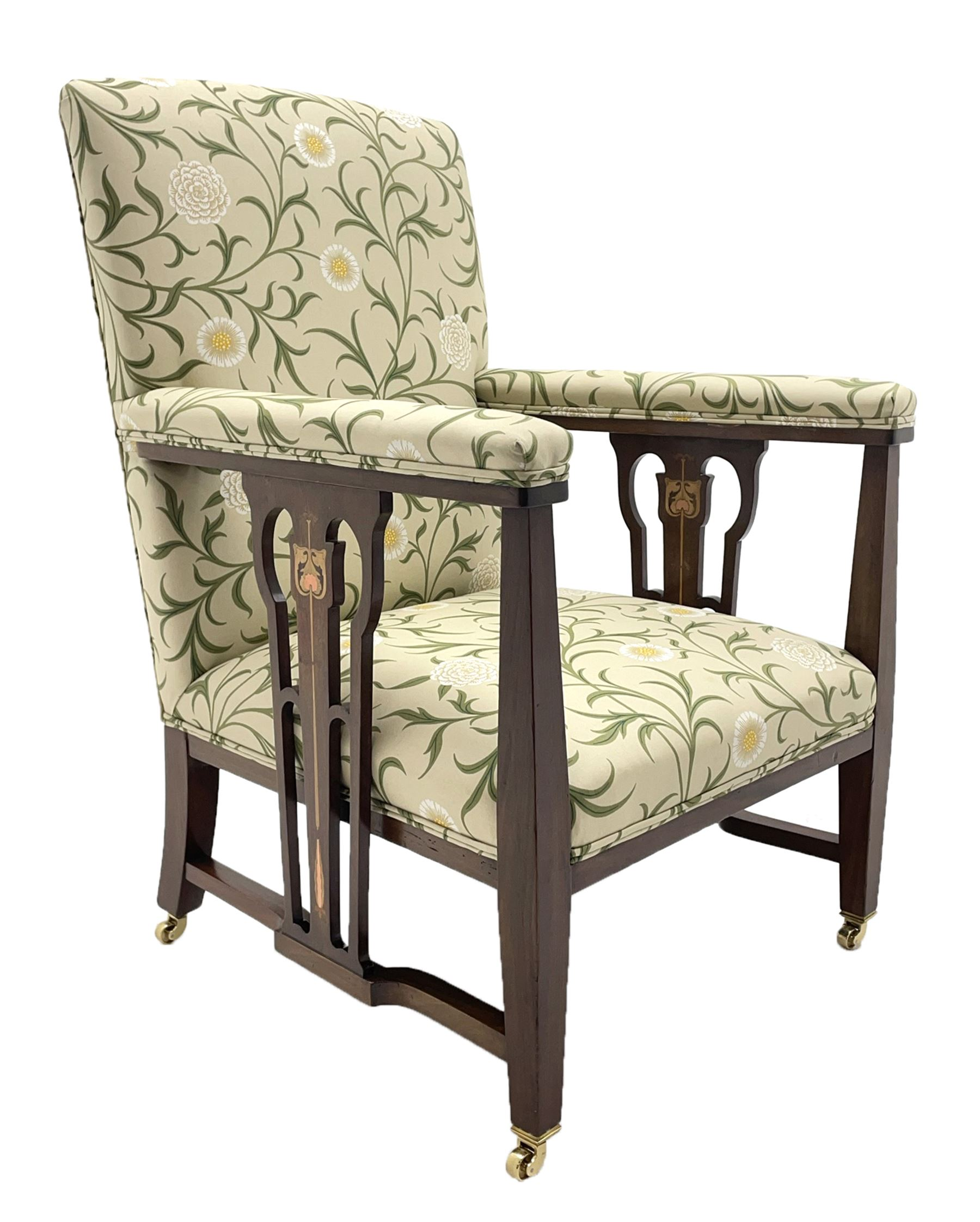 Late 19th century Arts and Crafts mahogany armchair