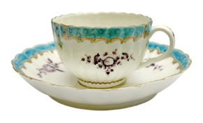 18th century Worcester teacup and saucer