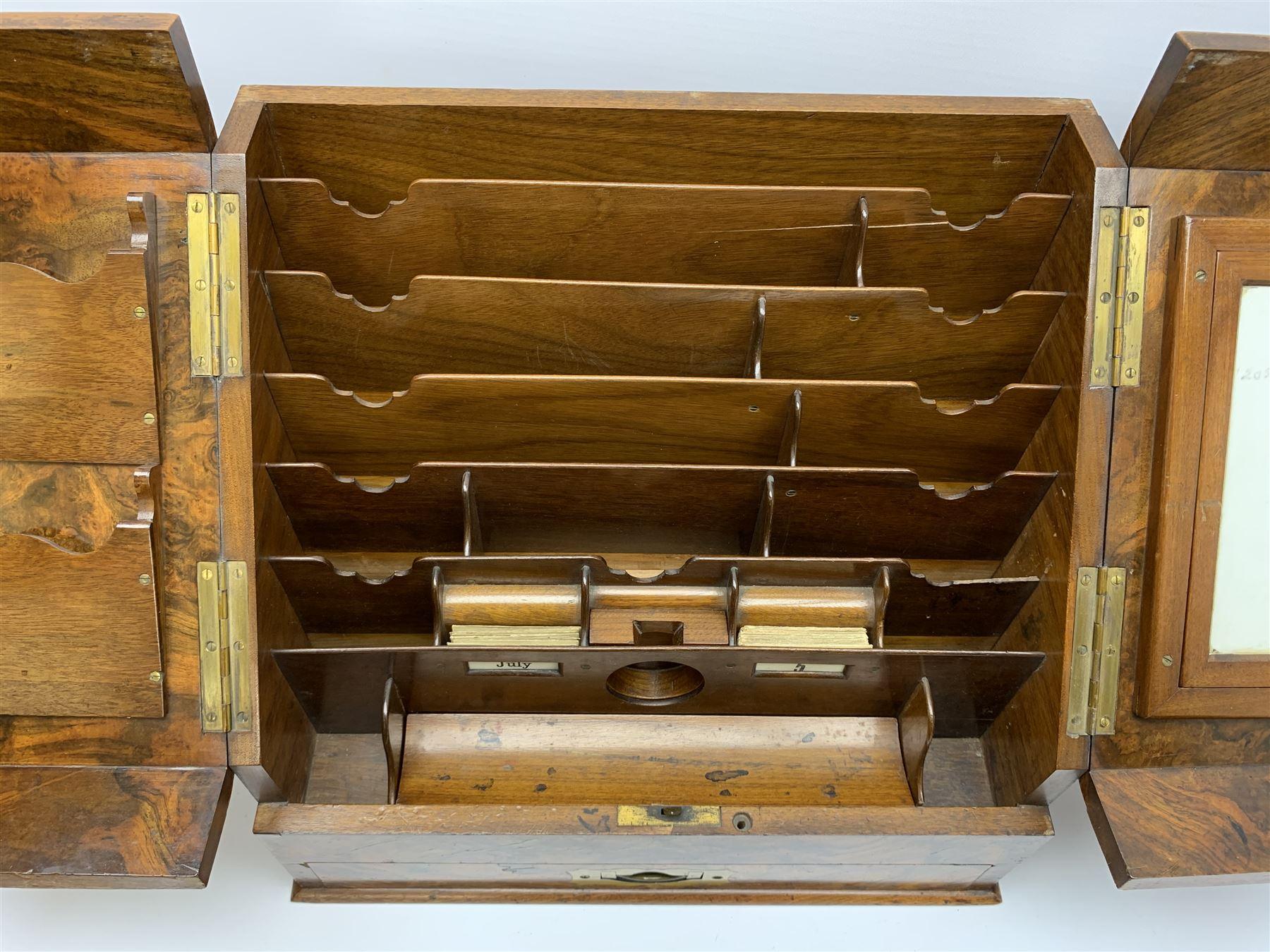 Late Victorian walnut correspondence box - Image 11 of 13