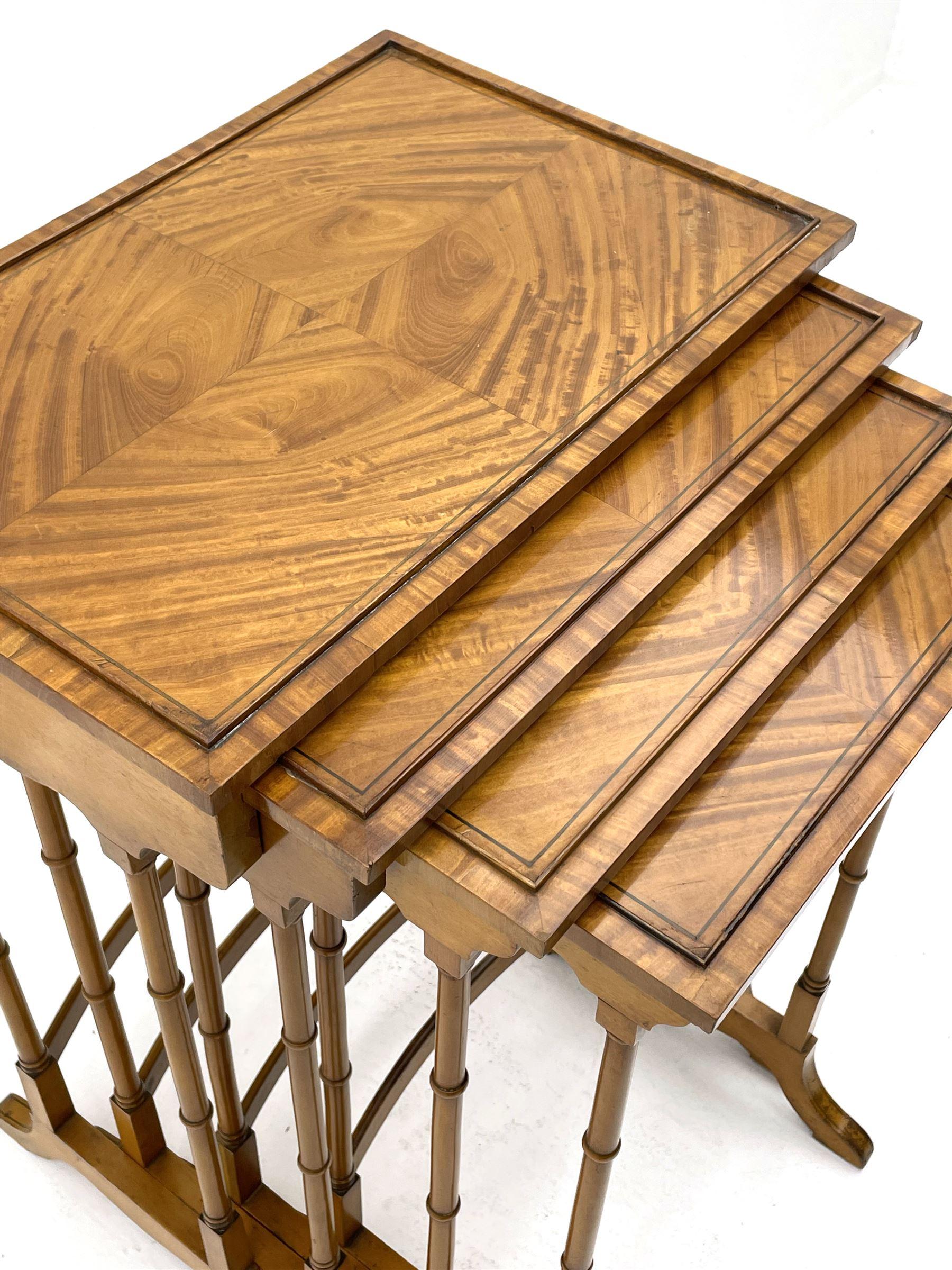 Edwardian satinwood quartetto nest of occasional tables - Image 5 of 6