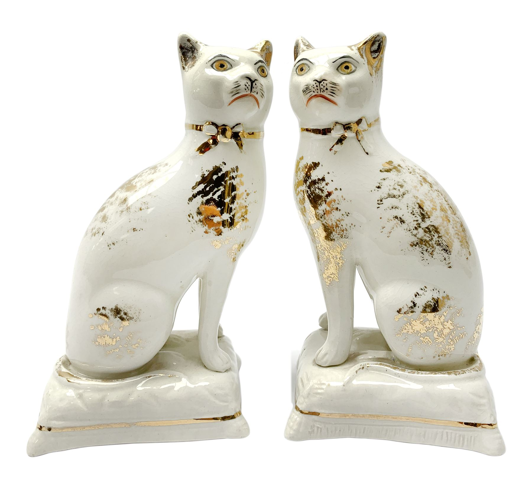 Pair of Victorian Staffordshire cats