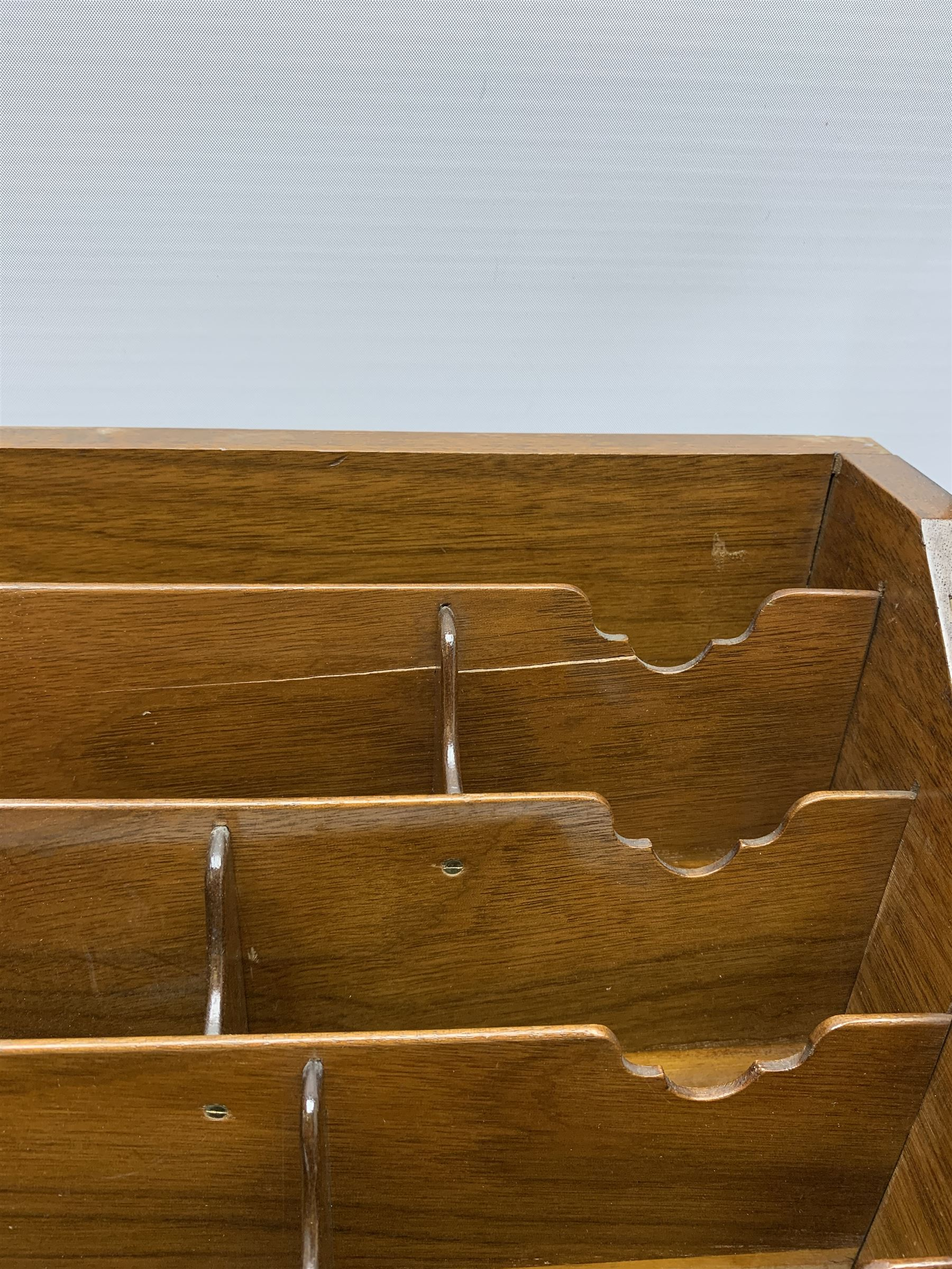 Late Victorian walnut correspondence box - Image 2 of 13