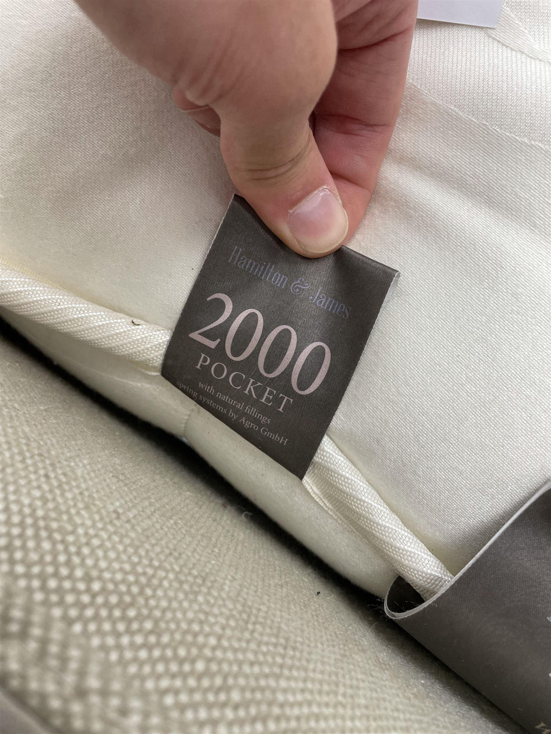 Graham & Green Evelyn - French style Kingsize 5' bedstead upholstered in natural light grey linen - Image 3 of 6