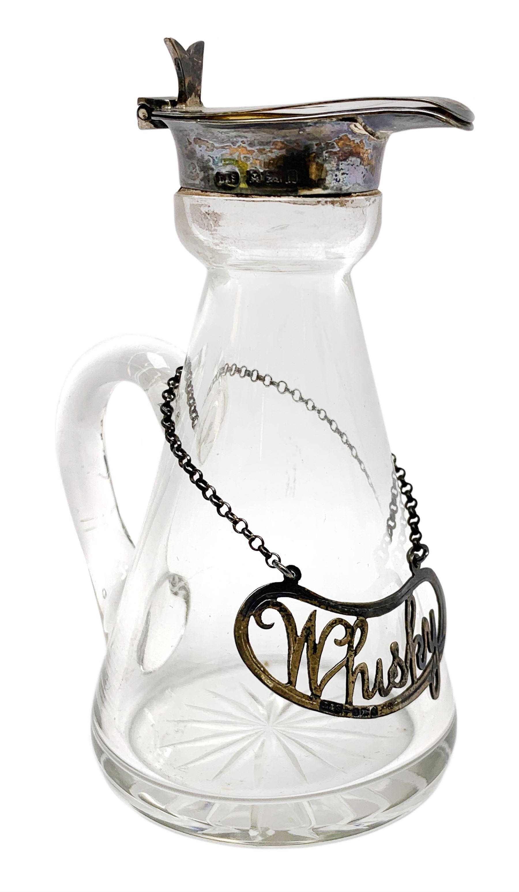 Edwardian silver mounted whisky noggin